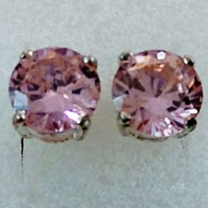 Jewelry - ROSE QUARTZ STUD ~ SILVER